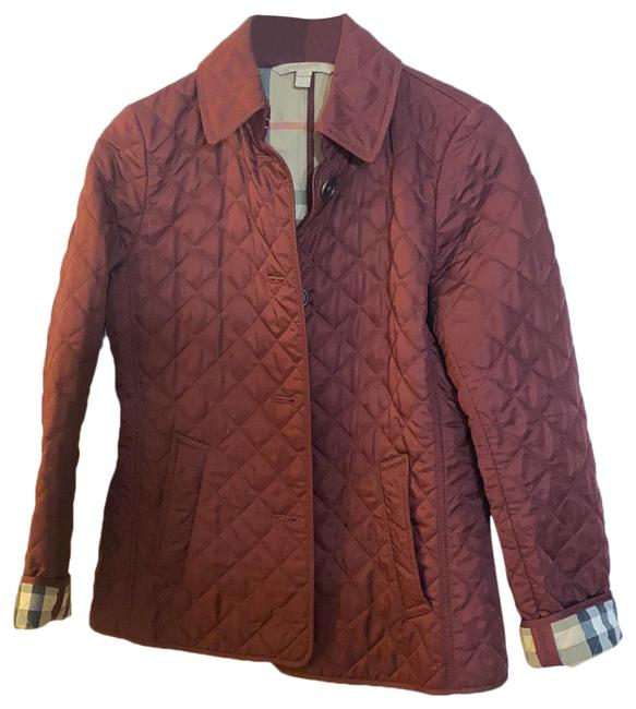 Item - Burgundy Quilted Jacket Size 6 (S)