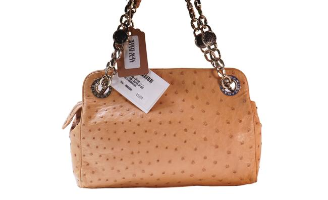 Item - Top Handle Bag Rich Amber Chain Brown Leather Tote