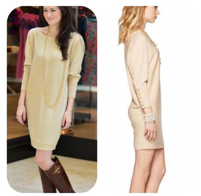Item - Gold Bloomfield Sweater Short Night Out Dress Size 2 (XS)