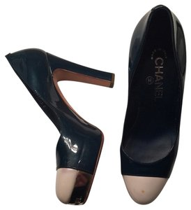 Chanel Classic 37.5 Heels Cap Toe MULTICOLORS Pumps