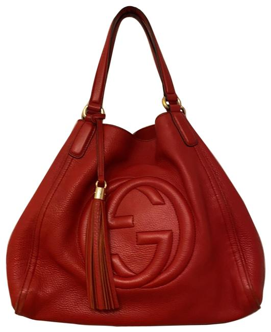 Item - Shoulder Bag Soho Convertible Red Leather Tote