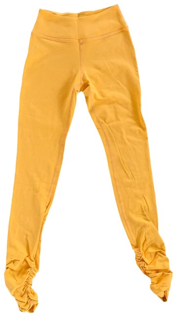 Item - Orange Yellow Gold With Scrunch Activewear Bottoms Size 2 (XS)