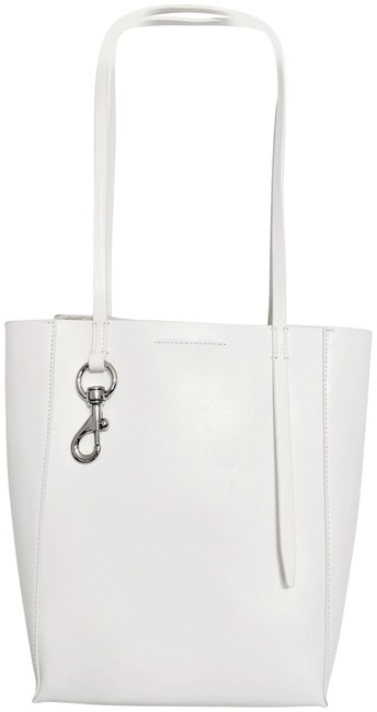 Item - Stella Small Soft North/South & Dustbag Optic White Leather Tote