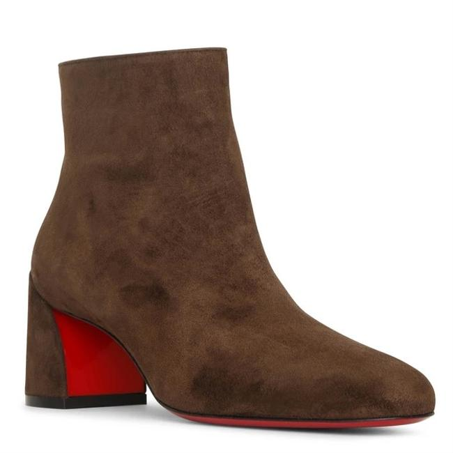 Item - Brown Turela 55 Arabica Veau Velours Suede Chunky Heel Ankle Boots/Booties Size EU 36 (Approx. US 6) Regular (M, B)