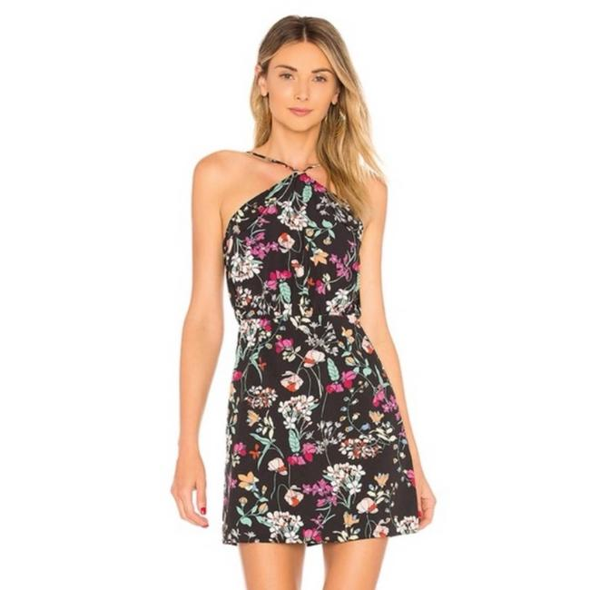 Item - Norah Floral Backless In Black Floral Short Casual Dress Size 2 (XS)