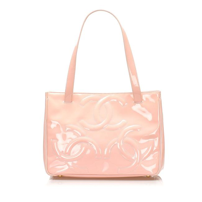 Item - Bag Triple Coco Pink Patent Leather Tote
