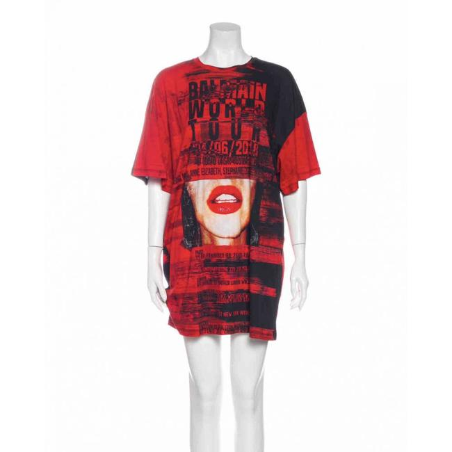 Item - Red Tee-shirt Short Casual Dress Size 4 (S)