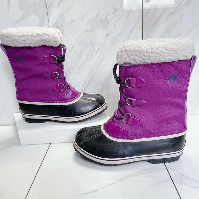 Item - Purple Black Yoot Pac Waterproof Platform Faux Shearling Combat Boots/Booties Size US 8 Regular (M, B)
