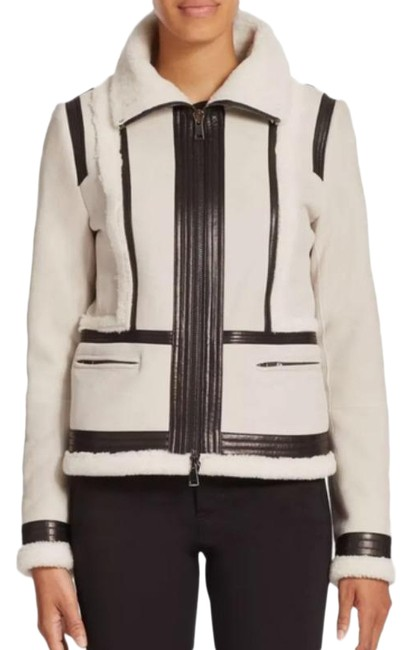 Item - White Trimmed Shearling Jacket Size 2 (XS)