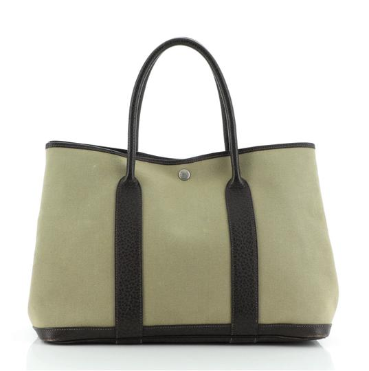 HermèsGarden Party And Leather 36 Tote