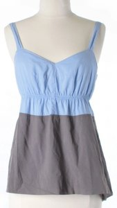 J.Crew Color-blocking Top Blue & Grey