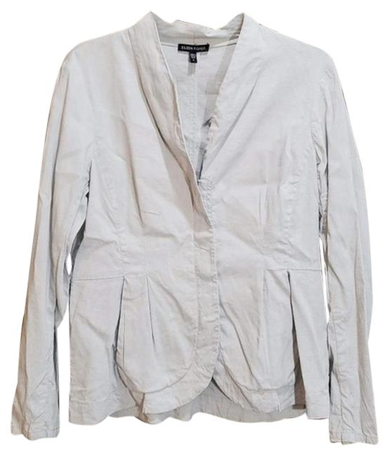 Item - Gray & Silver Linen Blend Zip Small Jacket Size 6 (S)