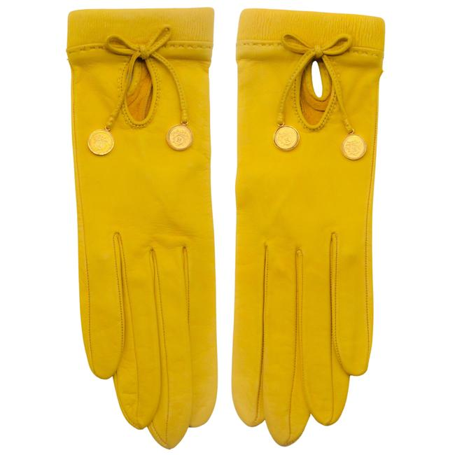 Item - Yellow Leather Gloves