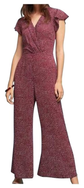 Item - Wine Red / White If By Sea Bering Romper/Jumpsuit