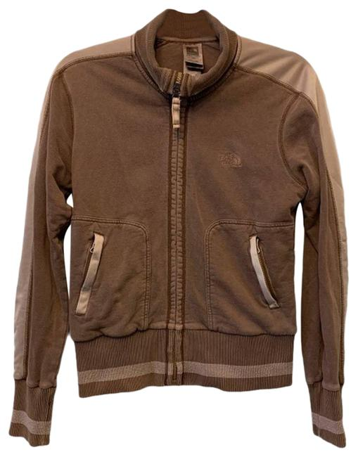 Item - Brown And Cream Full Zip Light Jacket Activewear Size 8 (M)