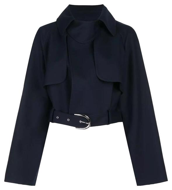 """Item - Navy Or Label Says """"marine"""" Krista Cropped Cotton with Belt Jacket Size 6 (S)"""