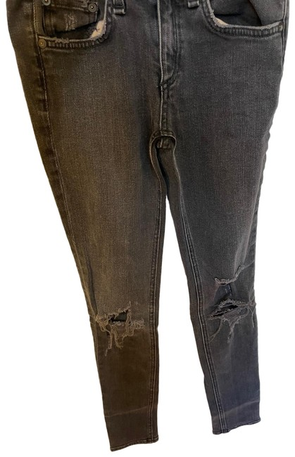 Item - Washed Black Distressed Skinny Jeans Size 0 (XS, 25)
