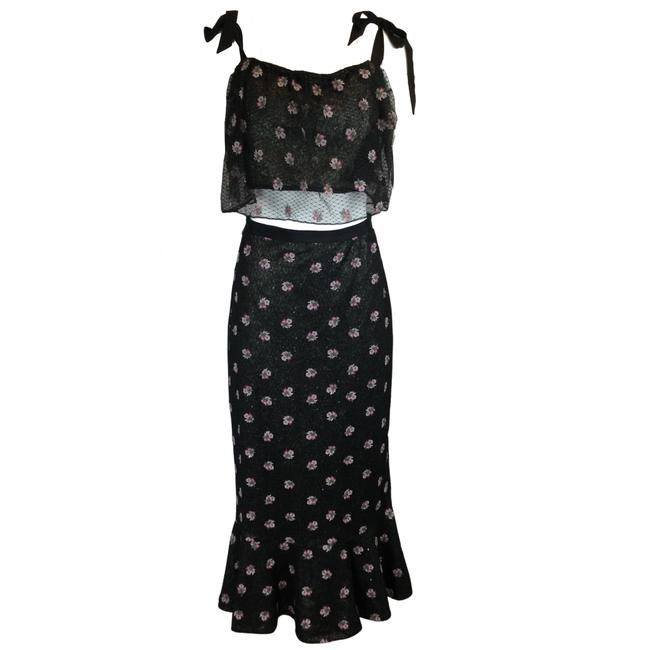 Item - Black Jemi Cropped Embroidered Top and Aidan Skirt Size 10 (M, 31)