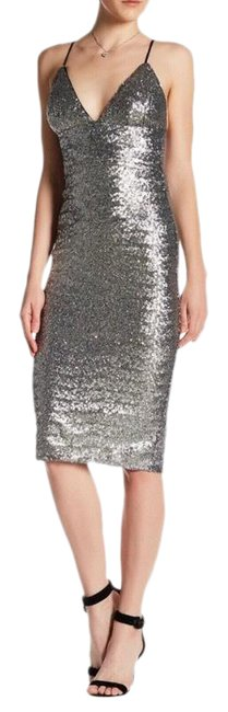 Item - Abs Metallic Sequin Slip Mid-length Night Out Dress Size 0 (XS)