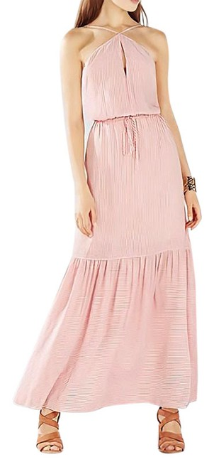 Item - Red/White Analeigh Striped Spaghetti Halter Tiered-hem Long Casual Maxi Dress Size 2 (XS)