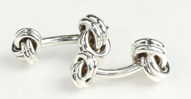 Item - Silver Double Knot Cufflinks Men's Jewelry/Accessory