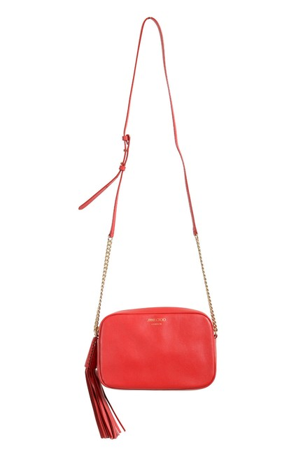 """Item - Women's """"Athini"""" Camera Shoulder Red Leather Cross Body Bag"""
