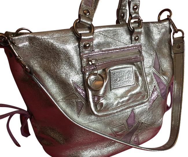 Item - Poppy Collection Silver Leather Tote