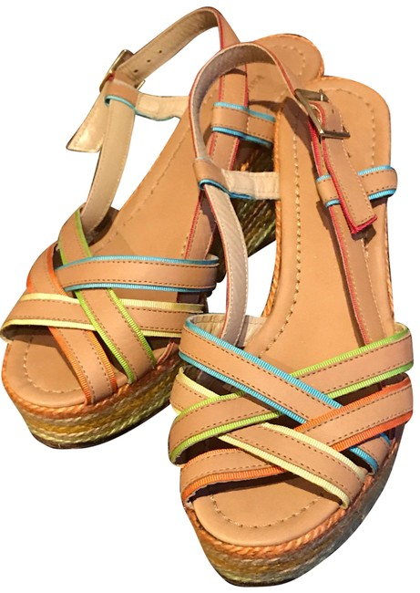 Item - Multicolor Rainbow Espadrille Wedge Sandals Size US 9 Regular (M, B)