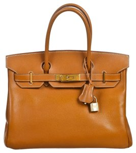 Hermes Satchel in Gold