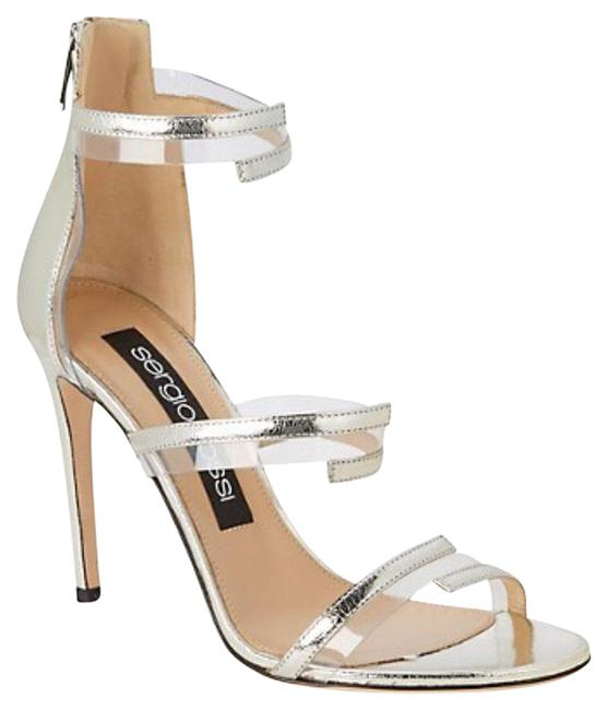 Item - Silver Ankle-strap Leather Sandals Size EU 38.5 (Approx. US 8.5) Regular (M, B)