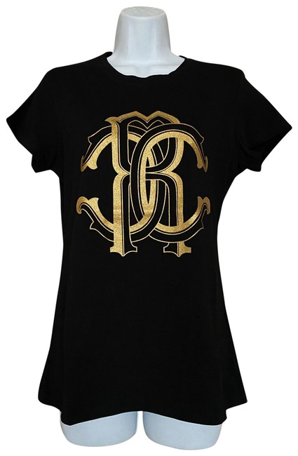 Item - Black/Gold L Women's Rc Logo Fitted Tee Shirt Size 12 (L)