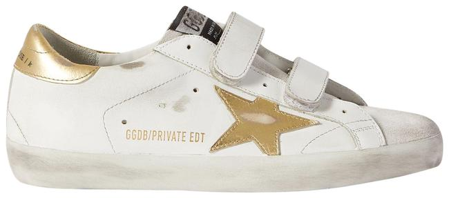 Item - White Old School Distressed Leather Sneakers Size EU 38 (Approx. US 8) Regular (M, B)