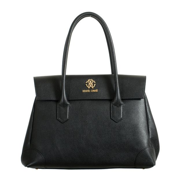 Item - Women's Textured Shoulder Handbag Black Leather Satchel