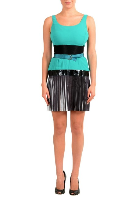 Item - Multi-color Women's Pleated Shift Short Casual Dress Size 4 (S)