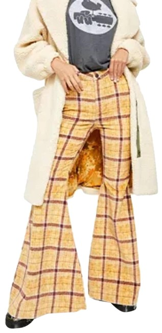 Item - Yellow Just Float On Plaid Jeans Mustard Pants Size 6 (S, 28)