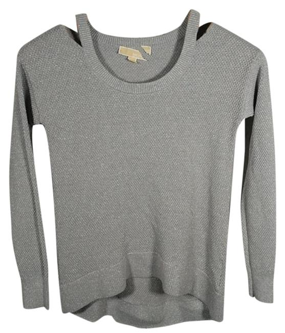 Item - Cold Shoulder Gray Silver Sweater