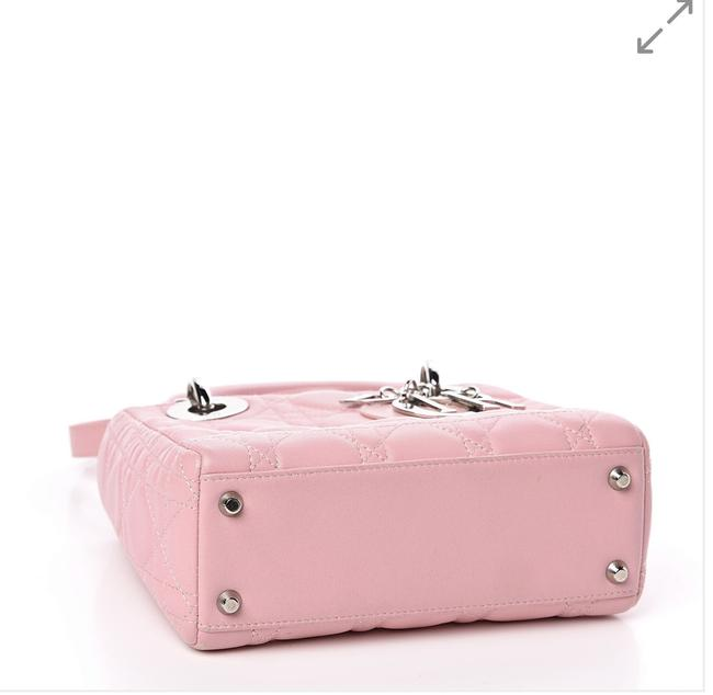 Item - Lady Cannage Mini Rose Clair Lambskin Leather Shoulder Bag