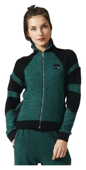 Item - Green and Black Equipment Track Zip Up Jacket Activewear Size 8 (M)