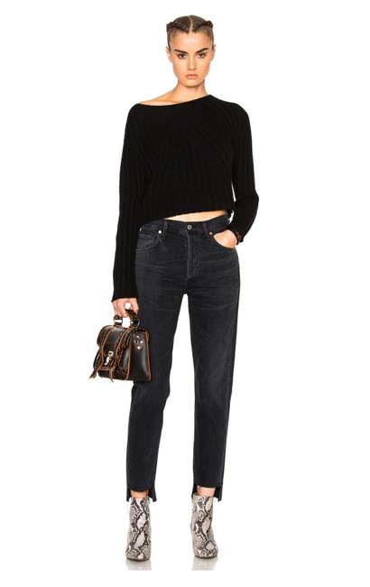 Item - Black Dark Rinse Liya High-lo In Outsider Relaxed Fit Jeans Size 8 (M, 29, 30)