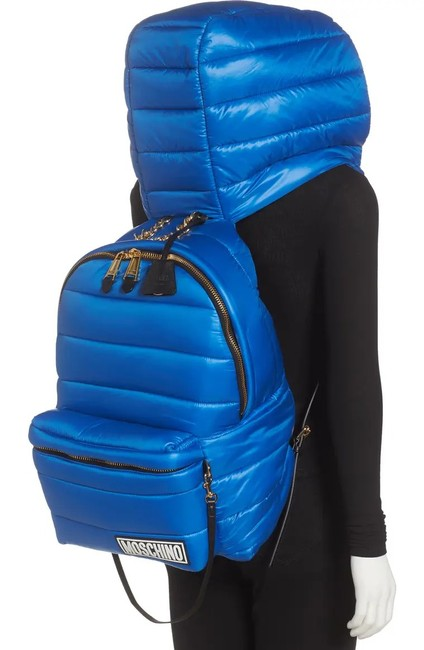 Item - Couture Puffer with Hood 7a7618 Blue Polyester Backpack