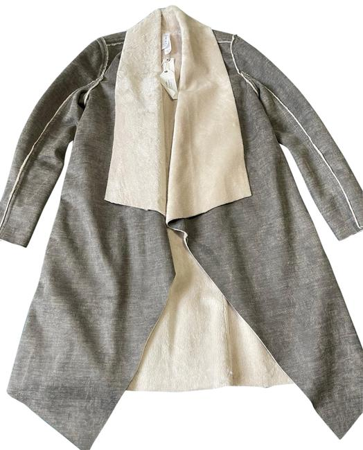 Item - Gray/Beige Coat Size 4 (S)