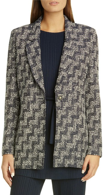 Item - Blue Collection Stepped Wicker Inlay Knit Jacket Size 12 (L)