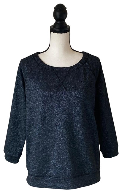 Item - Blue Black Glitter / Medium Sweatshirt/Hoodie Size 4 (S)