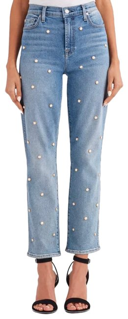Item - Blue Light Wash Edie Straight Leg Jeans Size 0 (XS, 25)