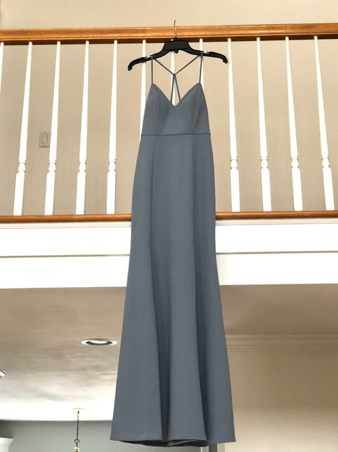Item - Mayan Blue Luxe Knit Crepe In Reese Formal Bridesmaid/Mob Dress Size 2 (XS)