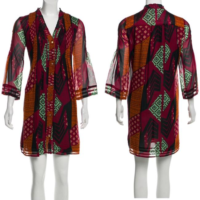 Item - Multicolor Silk Shift Short Casual Dress Size 2 (XS)