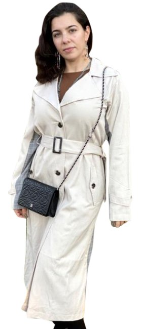 Item - Cream Tan Tarina Contrast Trench Coat Jacket Size 4 (S)
