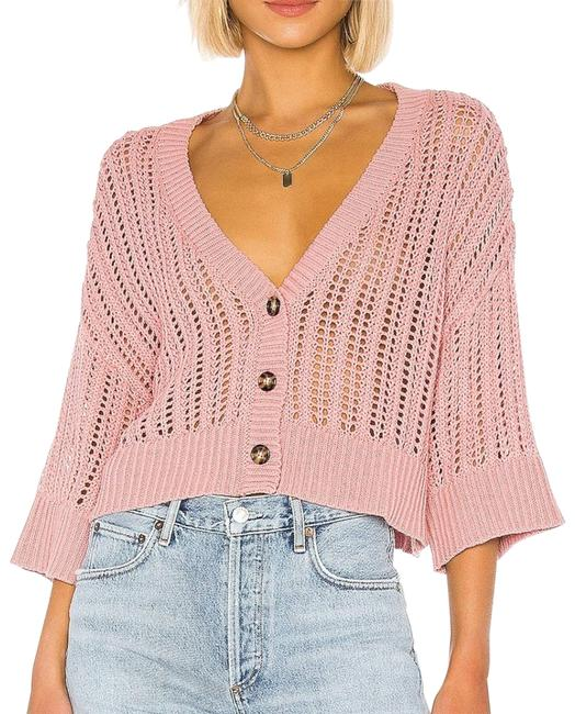Item - Pink Grapefruit Cropped Open Knit S Cardigan Size 6 (S)
