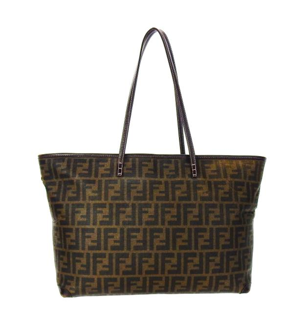 Item - Neverfull Brown Zucca Monogram Canvas Leather Shoulder Bag