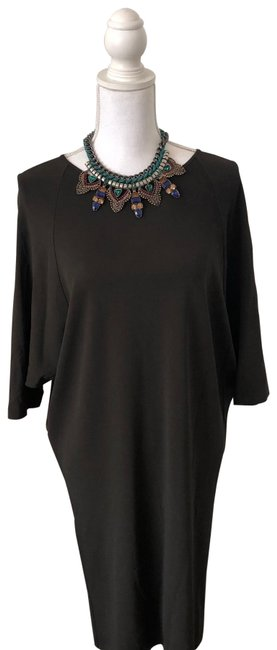 Item - Brown Mid-length Work/Office Dress Size 4 (S)